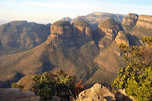 Rondavels viewpoint en route to Kruger Park on a wildlife tour